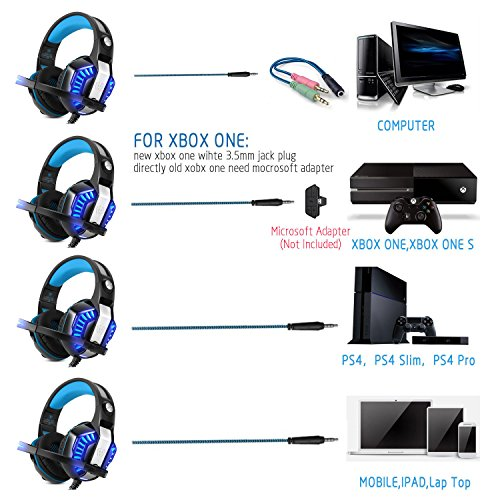 Cascos Auriculares Gaming Gamer Ps4 Xbox One Pc Diadema